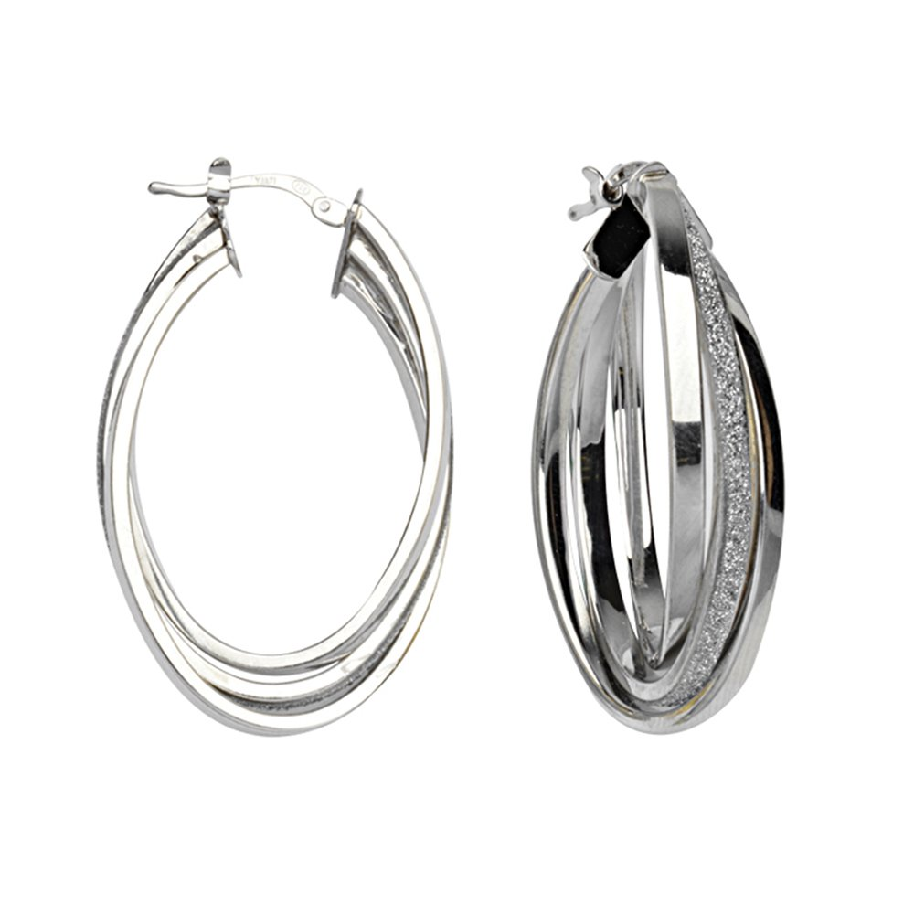 Intertwined Glitter Lightz Lrg Hoop Ear Hoop Earrings