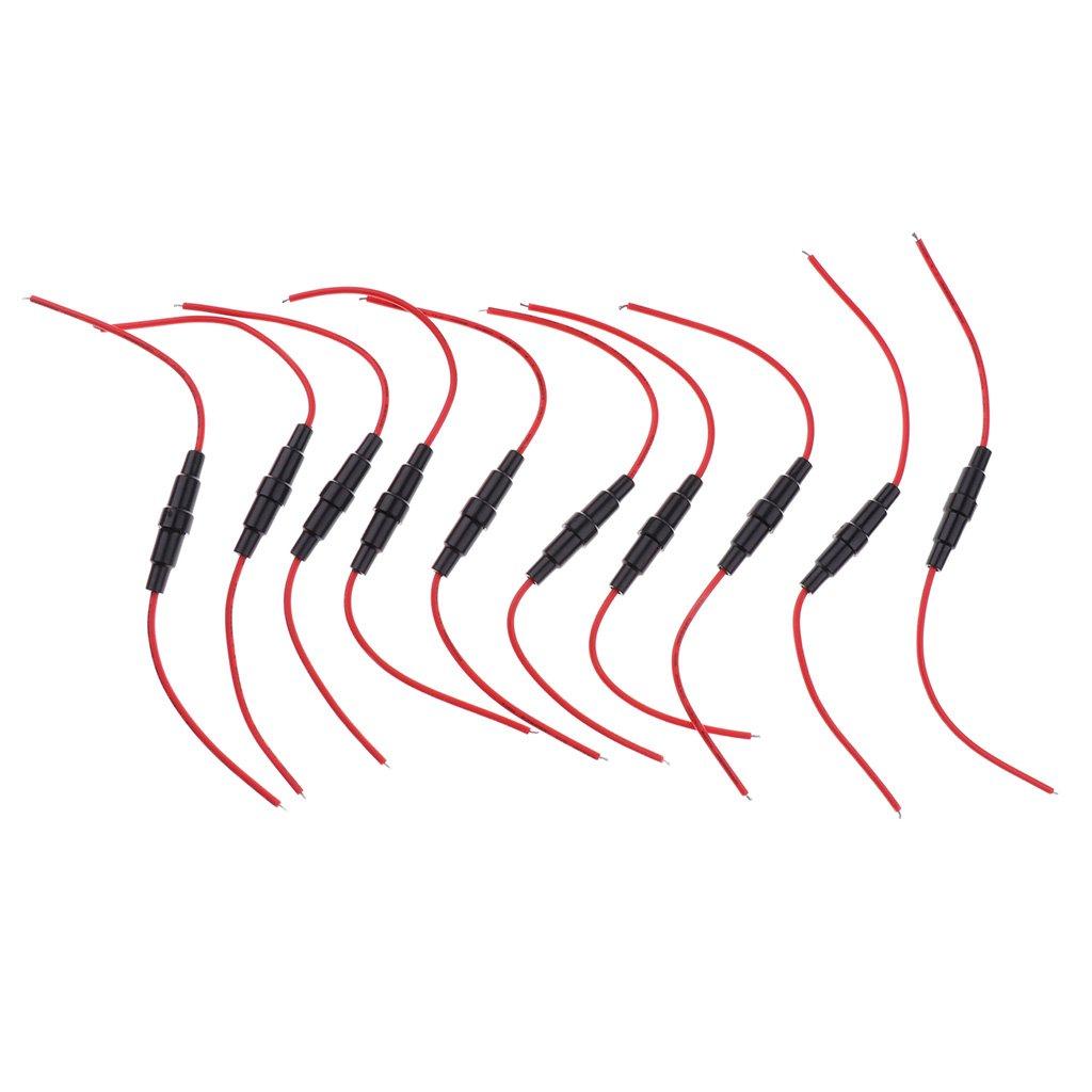 Homyl 10 St/ücke Feinsicherung Glassicherung assortierte Kit Amp 0,2A 0,5A 1A 2A 3A 5A 6A 8A 10A 15A
