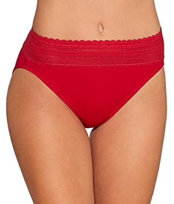 ea9551d4a2c0 Warner's Women's No Pinches Lace Hi-Cut Brief Panty at Amazon Women's  Clothing store: