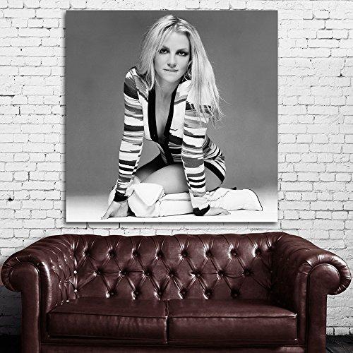 SDK mural #02bw Poster Mural Britney Spears 36x36 inch (90x90 cm) Canvas & Stretcher Bars (Britney Spears 2 Piece)