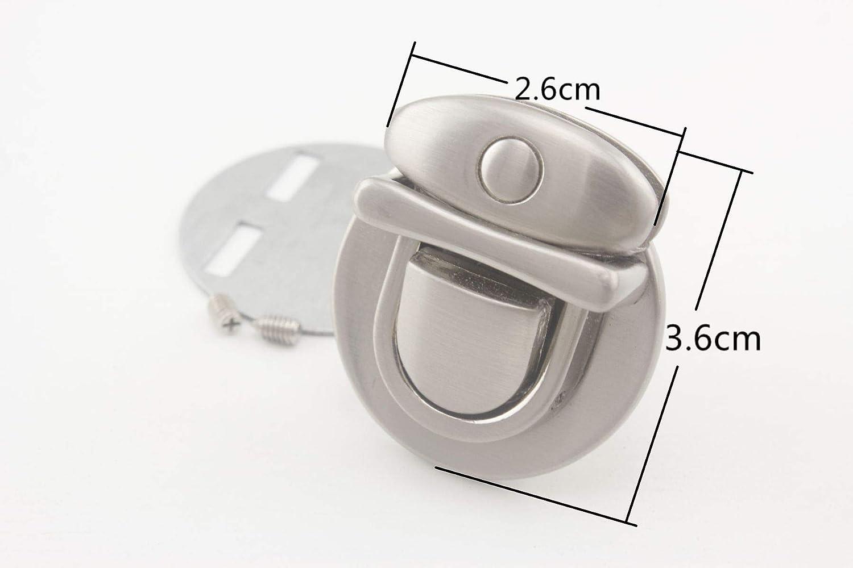 bolso de mano cierre lengua bloqueo Gunmetal//luz oro//n/íquel//Bronce//n/íquel mate Anti bronze 5/colores a elegir 2,6/cm x 3,6/cm