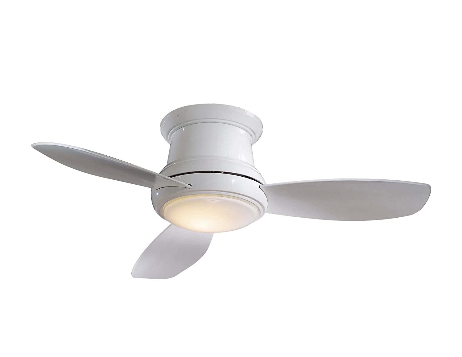 Minka Aire F519 Wh Concept Ii 52 Flush Mount Ceiling Fan With Light Remote Control White Flushmount Com