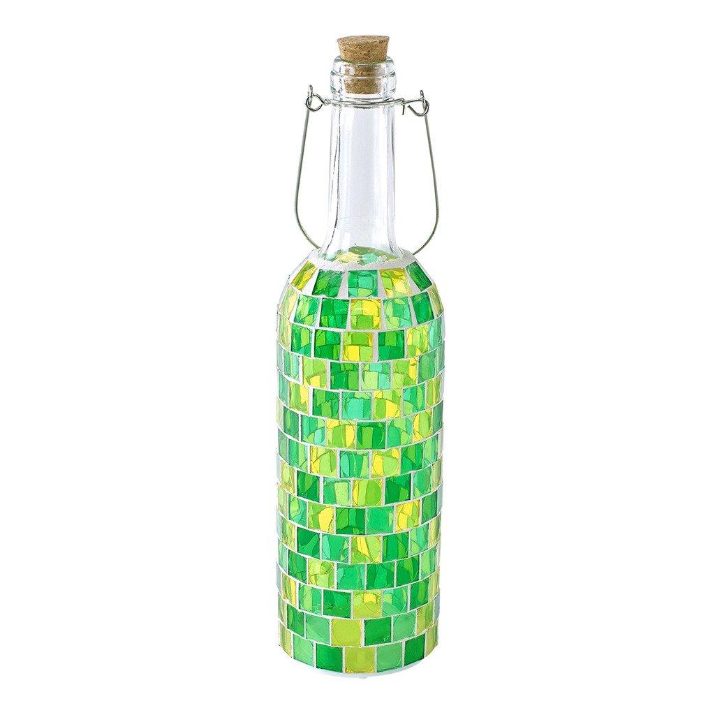 時間概念モザイクボトルランプ – 乾電池式、LEDライト Block HEDN1720GR B07CKYTM2J 16963  Block Green