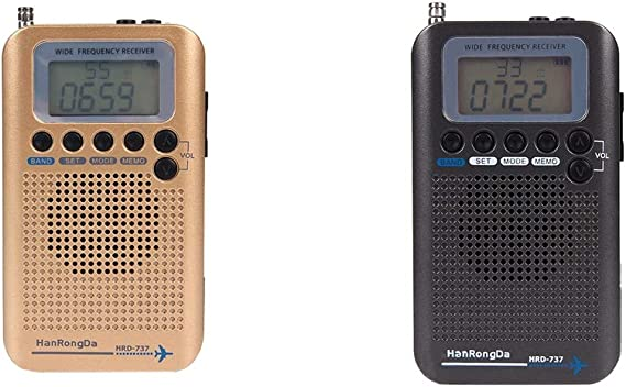 Shiwaki 2Pcs Air Band Radio Receiver Air FM Am CB SW VHF Full ...