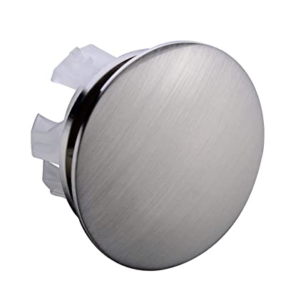 Orhemus Solid Brass Sink Overflow Cap Round Hole Cover For Bathroom Basin Brushed Nickel Finish
