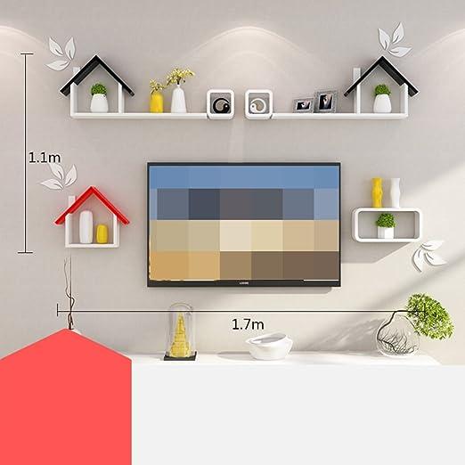 ANDEa Estanterías creativas, simple moderna utilidad sala de estar ...