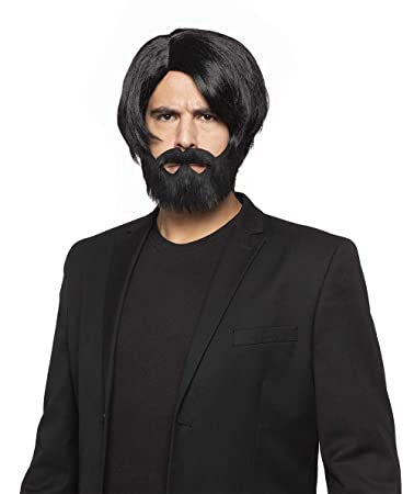Amazon Com Assassin Wick Color Black Enigma Wigs John Reeves Beard Mustache Wig Set Facial Hair Goatee Hitman Keanu Bundle Maxwigs Costume Wig Care Guide Beauty