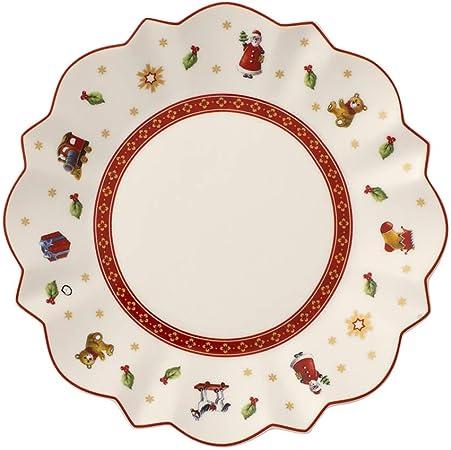 Blanco//Multicolor Villeroy /& Boch 14-8585-1431 Platillo para Taza de Moca o Espresso Toys Delight para Navidad Porcelana 13 cm
