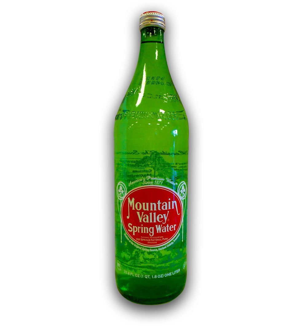 Mountain Valley Spring Water Glass Bottle 33.8 Ounces (Pack - 24)