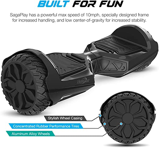 Sagaplay Self Balancing Scooter Hover Self-Balance Board w/ Wireless Speakers - UL2272 Certified, 220W Dual-Motor, 6.5 Electric Powered Board Hover ...