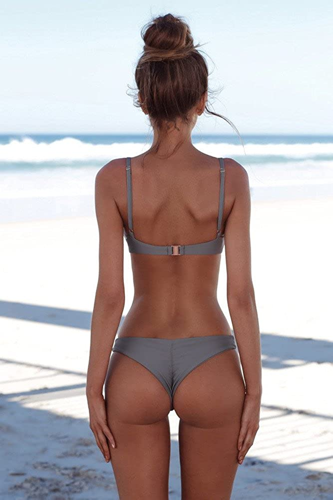 Women Push-Up Brazilian Bikini Set Swimwear Bandeau Bandage Beachwear Two Piece Swimsuits Bathing Suits
