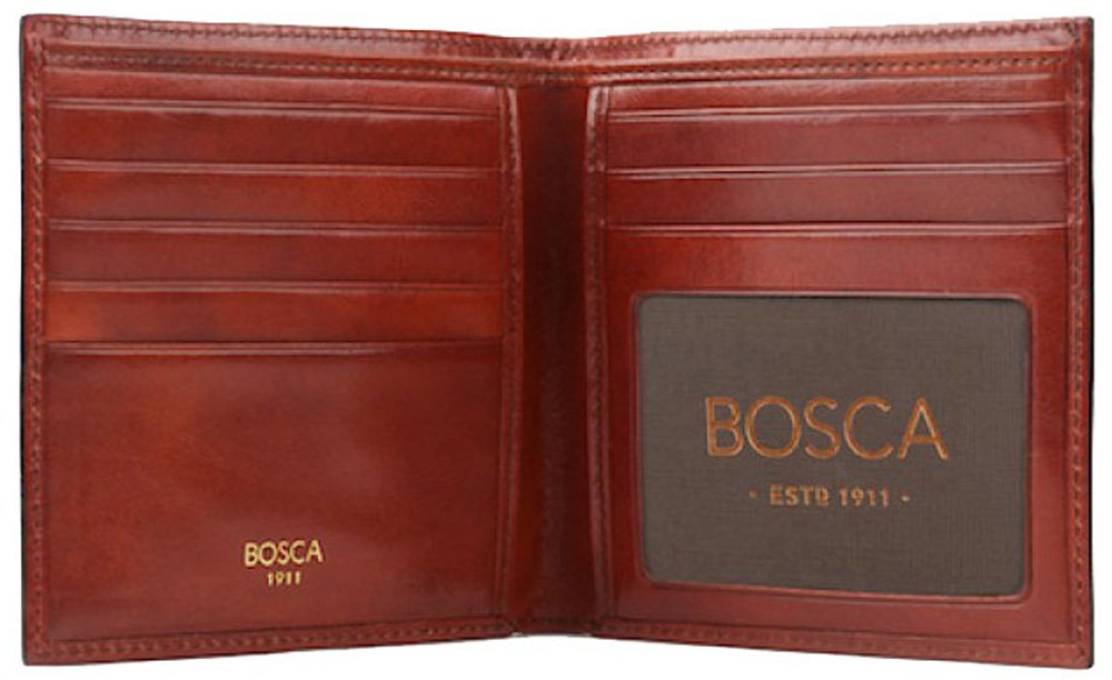 Bosca Old Leather Collection - ID Hipster Wallet Wallet Dark Brown Leather