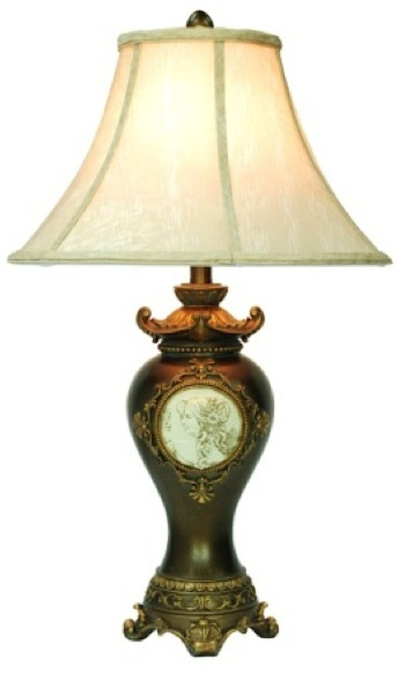 ORE International K-4192T Handcrafted Table Lamp, Bronze