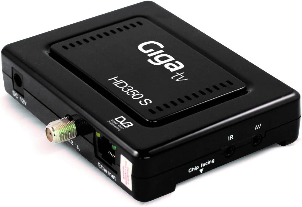 Gigatv HD350 S Plus - Decodificador satélite DVB-S2, Negro