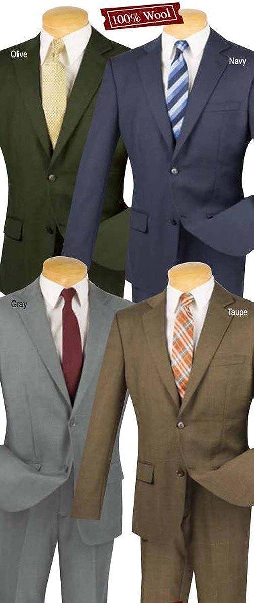 Fortini 100/% Wool 2 Botton Single Breated Window Pane Slim Fit Suit 2WWP-1