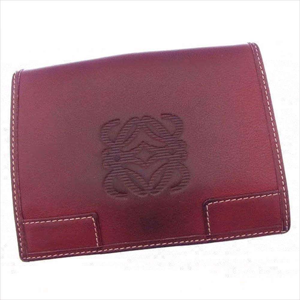 ロエベ LOEWE Wホック財布 二つ折り メンズ可 アナグラム 中古 T15977   B07R67GT1N