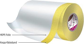 Malerkreppband selbstklebend mit Krepp-Klebeband PE-Abdeckfolie