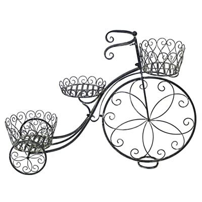 YYHSND Flower Frame Retro Wrought Iron Flower Pot Rack Float Rack Window Home Decoration Frame 98x30x71cm Flower Stand: Garden & Outdoor