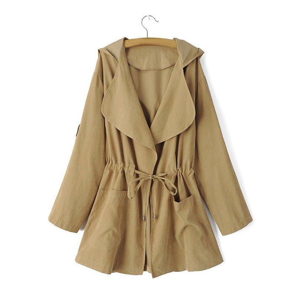 Oliviavan Blouse, Women Hooded Long Sleeve Jacket Windbreaker Parka Pockets Cardigan Thin Coat