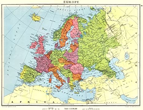 Amazon Com Europe Europe Shortly Before World War 2 1938 Old Map