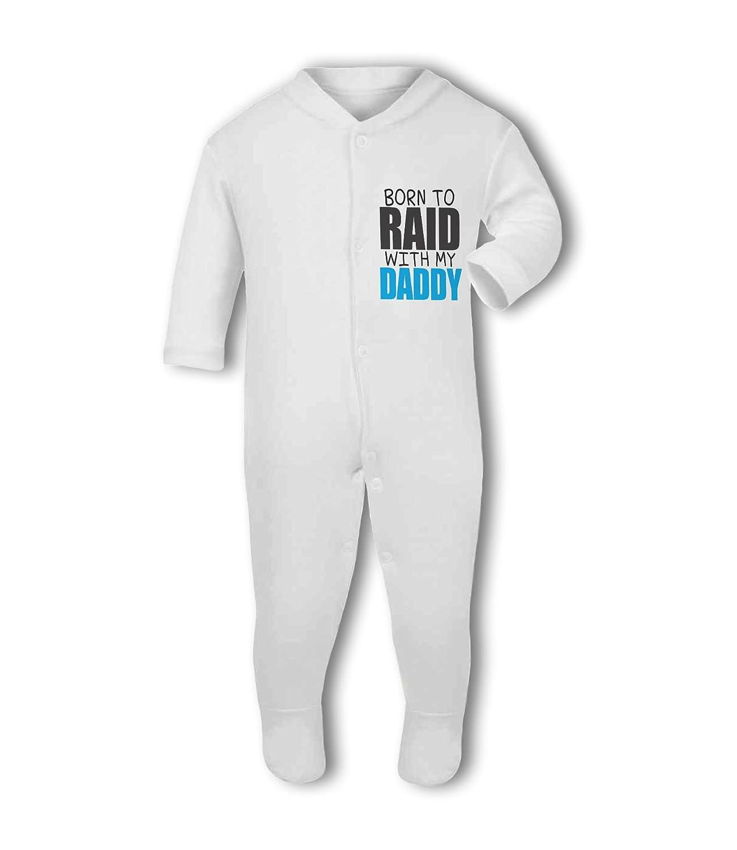 Born to Raid with my Daddy wow funny Baby Bib