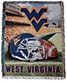 NCAA West Virginia Mountaineers Home Field Advantage Woven Tapestry Throw, 48' x 60'