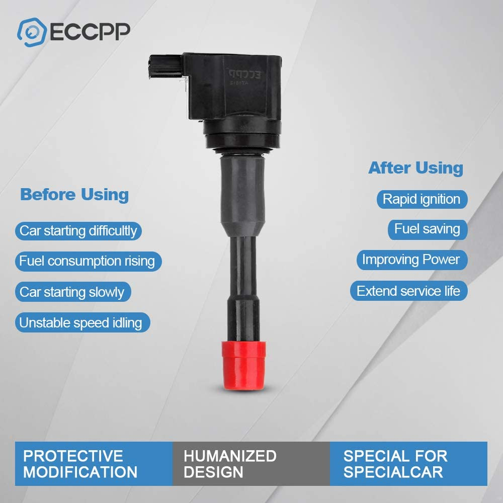 ECCPP Ignition Coil Front for Honda Civic Hybrid 1.3L Compatible with UF374 C1408 5C1405