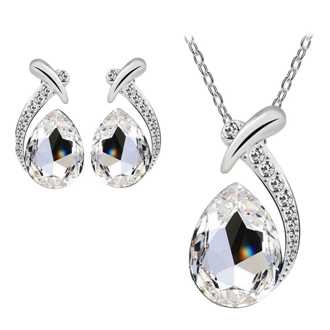 Crystal Pendant and Earrings S...