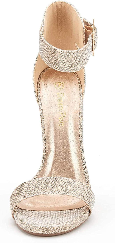 DREAM PAIRS Womens Elegantee Ankle Strap Pumps Heel Sandals