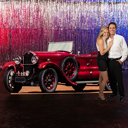(Roaring 20's Twenties Roadster Car Prop Cutout Standup Photo Booth Prop Background Backdrop Party Decoration Decor Scene Setter Cardboard)