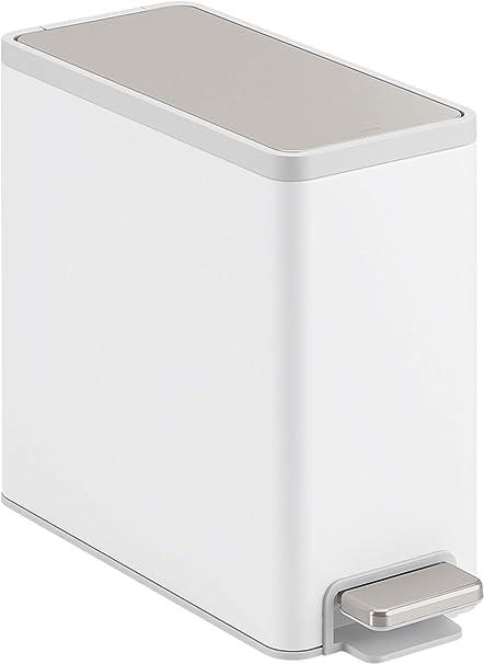 New 50L slimline narrow stainless steel kitchen trash can waste dust rubbish bin