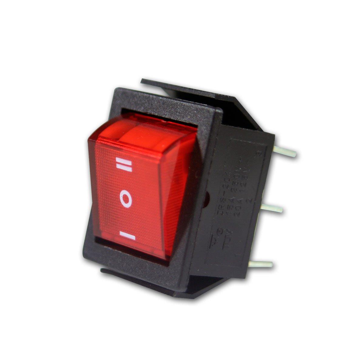 Wippenschalter rot, 2-polig, 250V/15A, Umschalter: Amazon.de ...