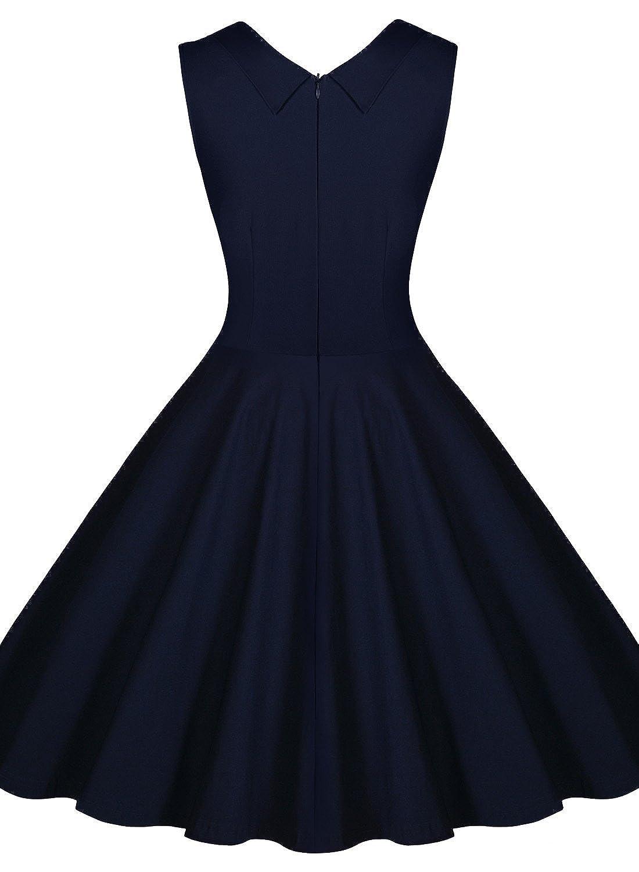 Miusol Women&39s Cut Out V-Neck Vintage Casual Retro Dress at Amazon ...