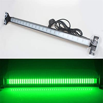 Clidr New Arrival 80 Led Strobe Light Windshield Car Flash Signal Emergency Warning Light Fireman Police Light Bar Beacon Car Truck Stroboscopes (green): Automotive