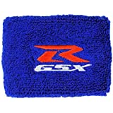 Suzuki GSXR Blue Brake Reservoir Cover by MotoSocks Fits GSXR, GSX-R, 600, 750, 1000, 1300, Hayabusa, Katana, TL 1000, SV 650