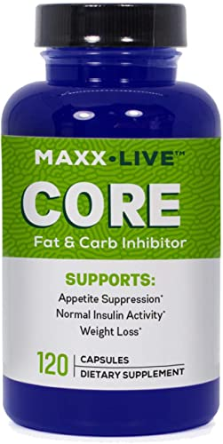 Maxx Live Core – Fat Burning Hormone with Lepticore – Carb Inhibitor – Leptin Resistance Support -120 Capsules