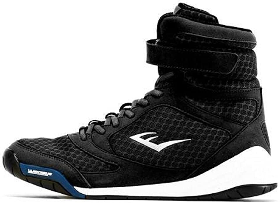 Everlast New Elite High Top Boxing Shoes Black, Blue, Red