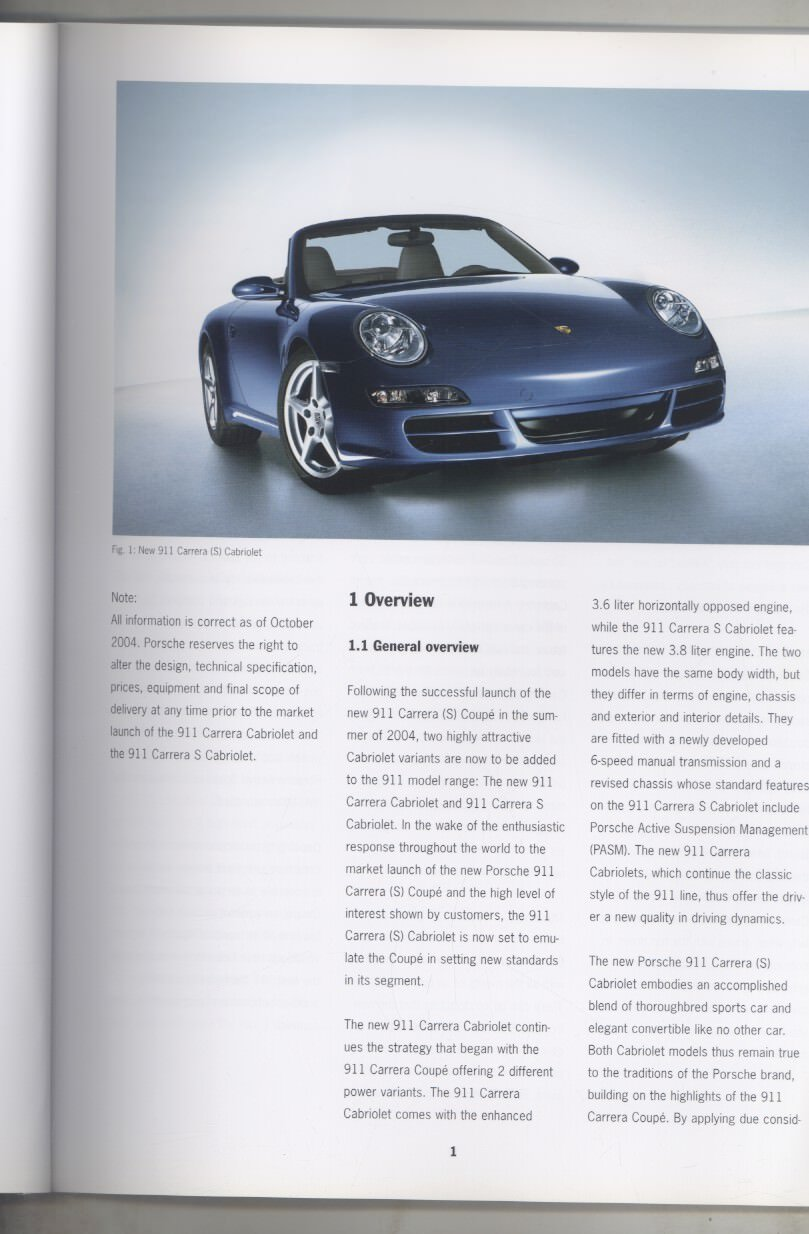 Amazon.com: 2005 Porsche 911 997 Carrera & S Cabriolet Salesmans Fact Book Brochure: Entertainment Collectibles