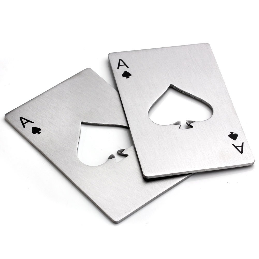 Bottle Opener , Yerwal Shop 1pc Stainless Steel Credit Card Size Casino Bottle Opener for Your Wallet by Yerwal Shop SYNCHKG076494