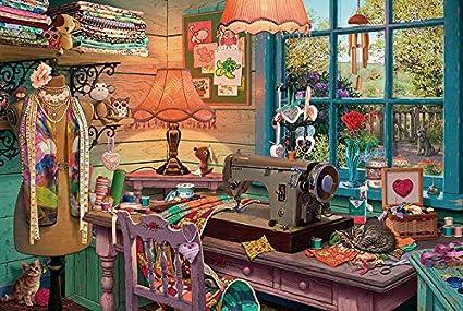 VVNASD Puzzles De 1000 Piezas para Infantiles Tienda de Costura ...
