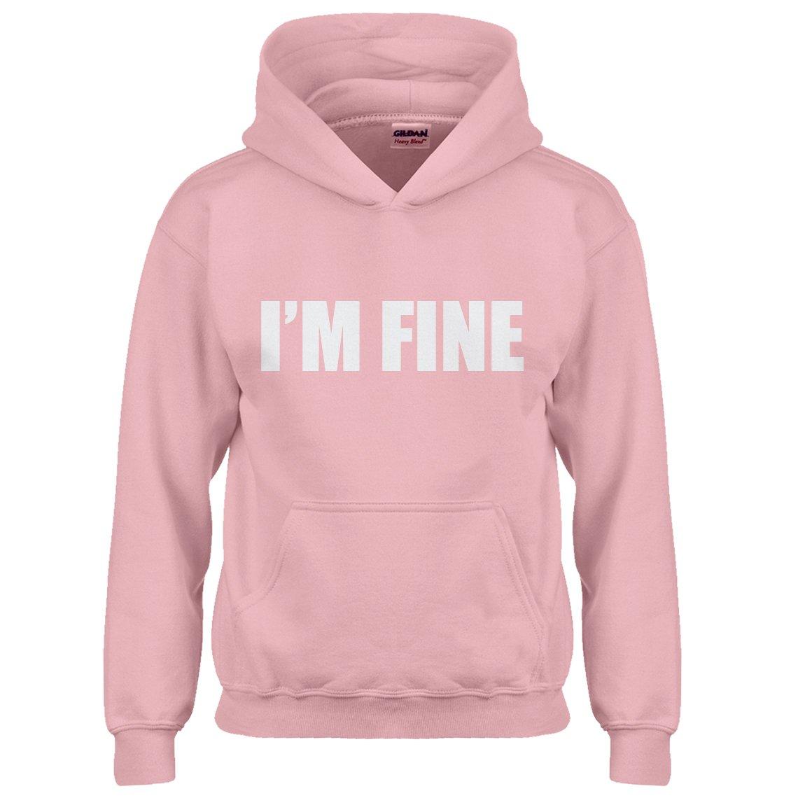Indica Plateau Kids Hoodie I'm Fine Small Light Pink Hoodie