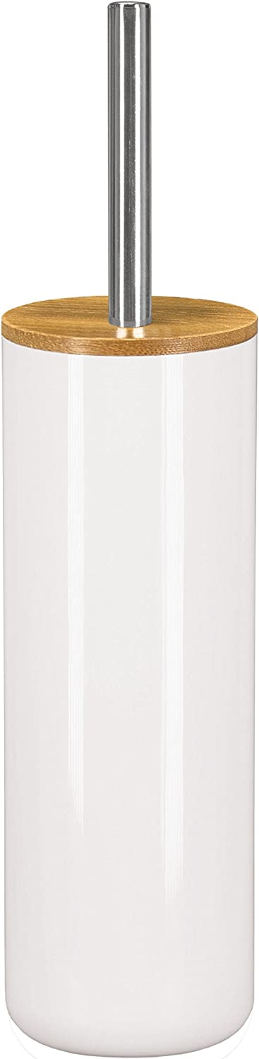 Kleine Wolke Polystyrol//Bambus WC-B/ürstenhalter Polyurethan 9.1/x 9.1/x 37.2/cm Wei/ß