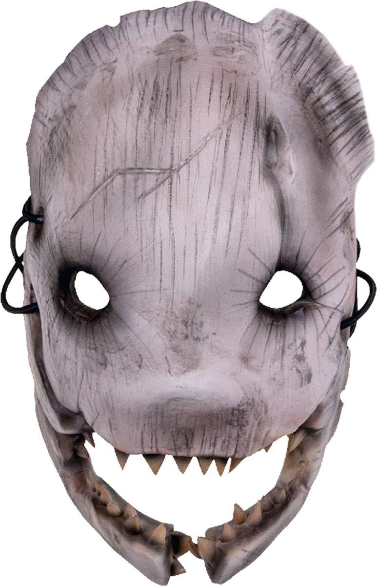 CreativeMinds UK Dead by Daylight Replica Trapper Face Vinyl Maschera Cosplay Dorsalino Bianco Nero