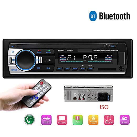 Dayangiii 12V Bluetooth Coche estéreo FM Radio MP3 ...