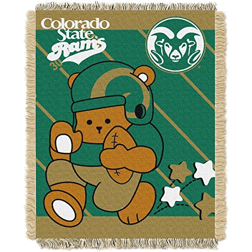 THE NORTHWEST COMPANY COLORADO STATE RAMS FULLBACK BABY TRIPLE WOVEN JACQUARD (Baby Triple Woven Blanket)