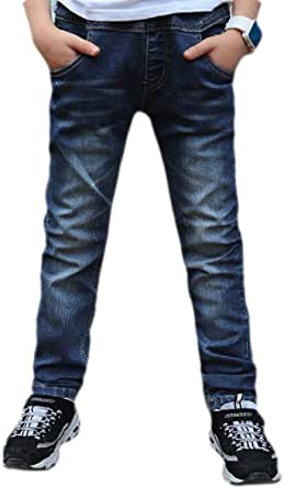 H&E Pantalones de mezclilla para niños, ajuste regular, pierna recta, para niños