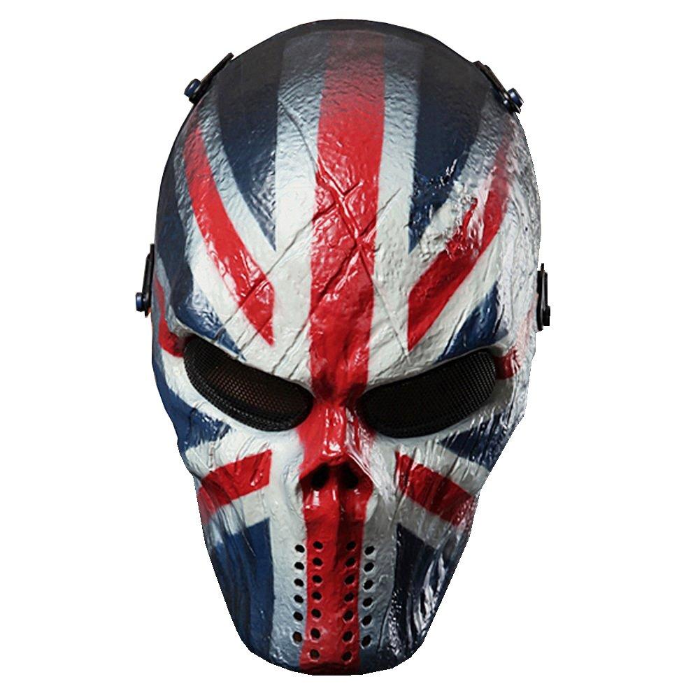 Airsoft calavera cara llena máscara de protección Militar protección Paintball Halloween disfraz htuk®, England: Amazon.es: Deportes y aire libre