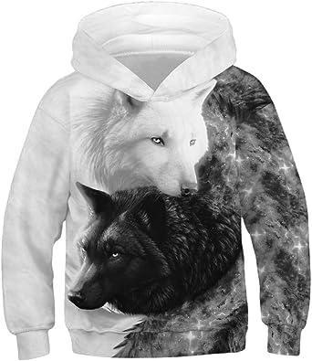 NAYINLAN Women Rainbow Unicorn Print Pullover Hoodies Sweatshirt