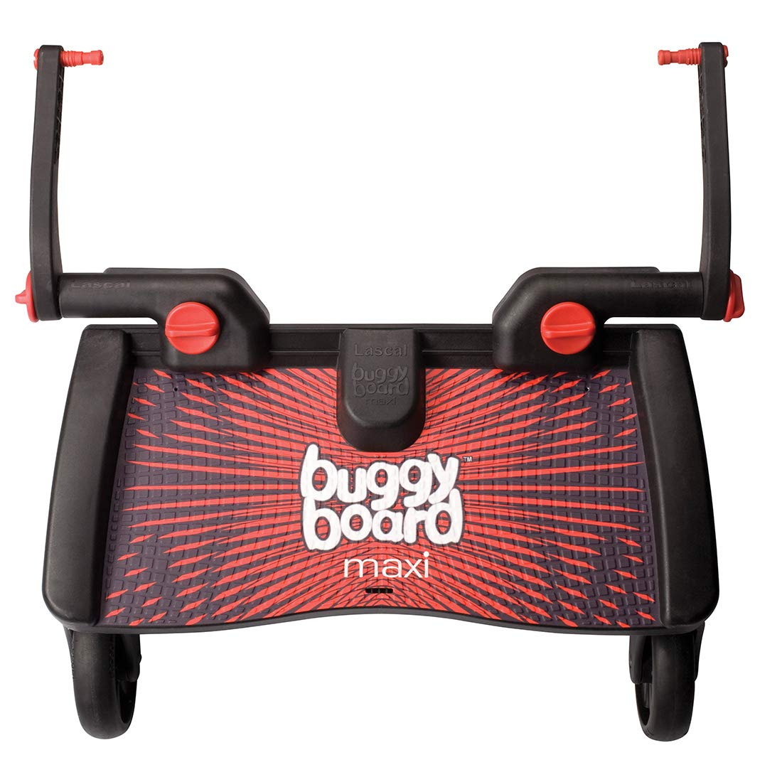 Lascal Mini BuggyBoard, Compatible With 99% of Pushchairs, Red 2750