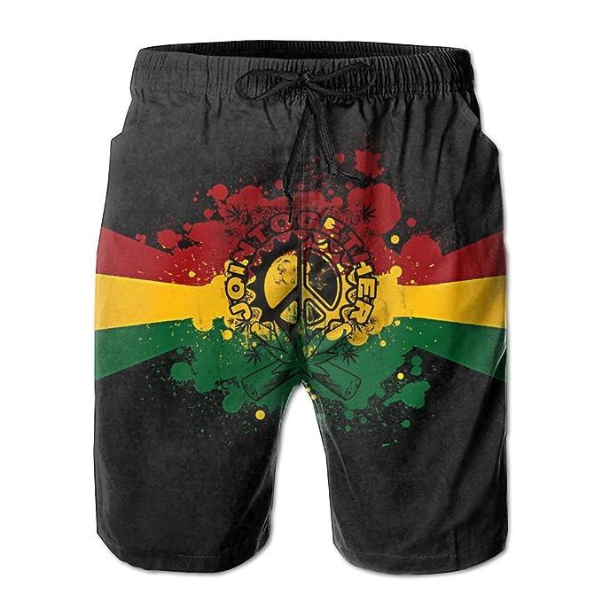 Amazon.com: niiwxcs para hombre Reggae de Jamaica verano ...
